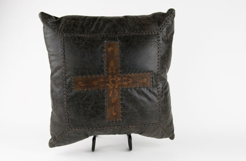 Tooled Leather Pillow
