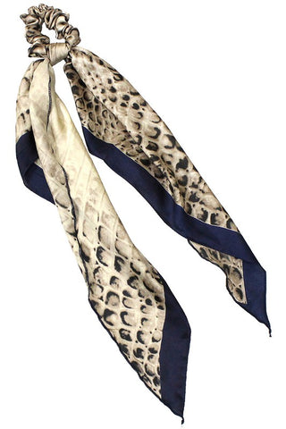 Croc Print Scarf Scrunchie in Navy or Green