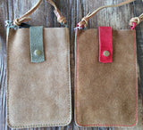 Suede IPhone 6 Cross-Body Purse