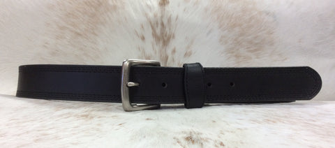 AndWest Mens Black Belt With Buckle
