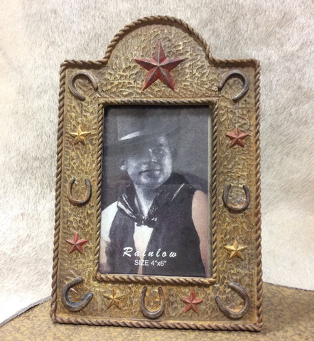 "Western Picture Frame 4""x6"""