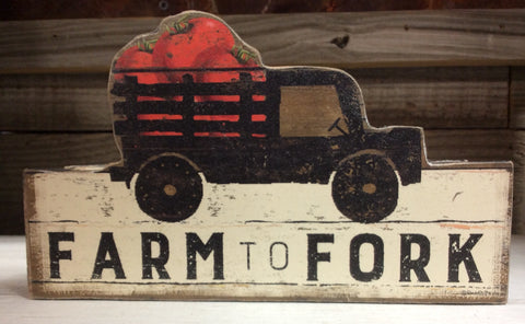 """Farm to Fork"" Box Sign"