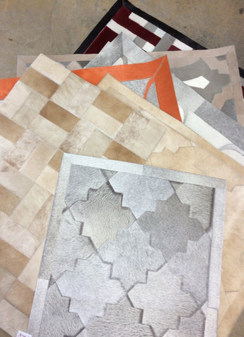 2' x 3'  Cowhide Patchwork Area Rug