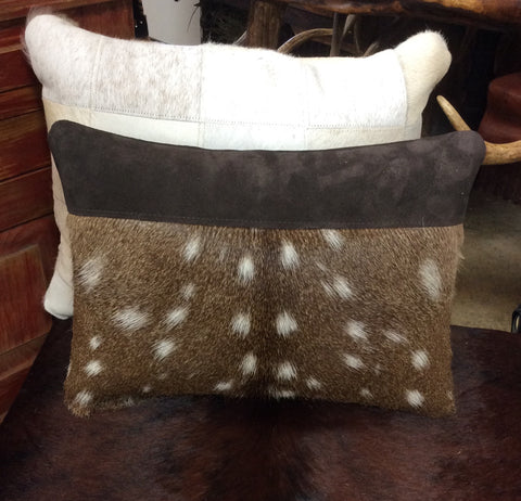Axis  Hide & Suede Pillow