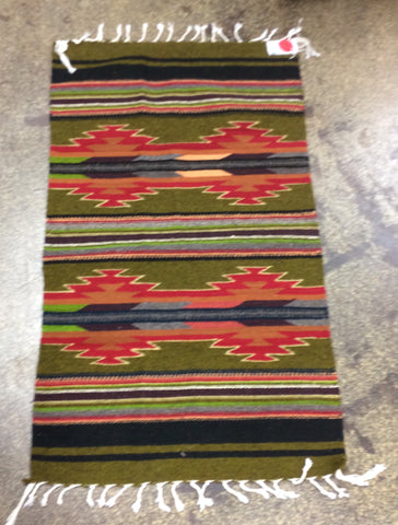 "Wool Rug 23"" by 40"" Olive"
