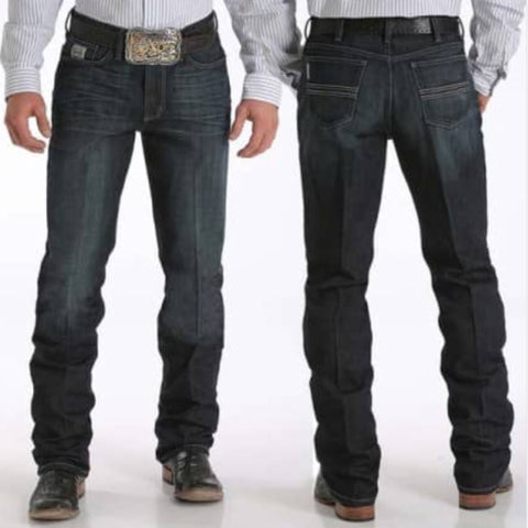 Cinch Dark Stonewash Silver Jean