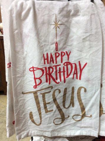 Dish Towel - Happy Birthday Jesus