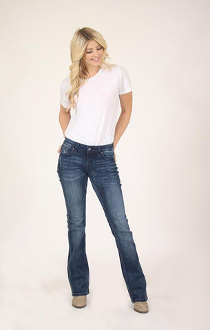 Grace in LA Bootcut Jean plain pocket