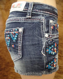 Grace In LA Dark Aztec Stitched Shorts
