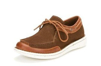 Justin Easy Rider Chocolate - Tan Leather Boat Shoe