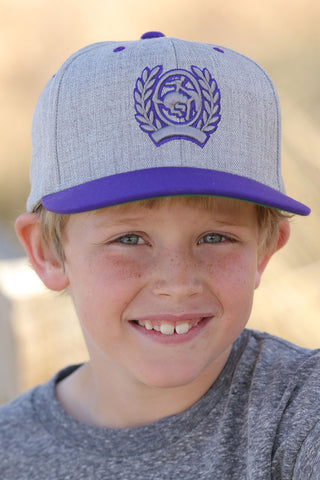 Cinch Logo Cap Grey and Purple