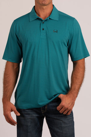 Cinch Turquoise Athletic Polo