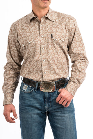 Cinch Tan Paisley Modern Fit Shirt