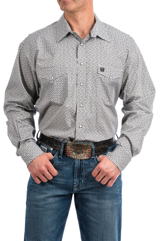 Cinch Gray Pattern Long Sleeve