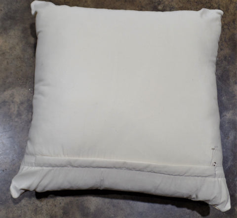 "20"" NATURAL HAIRLESS COWHIDE PILLOW"
