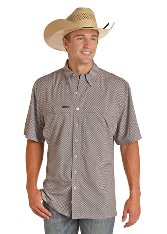 Panhandle Performance Fishing Button up Shirt Red