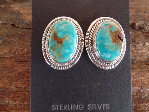 Navajo Turquoise Oval Post Earrings