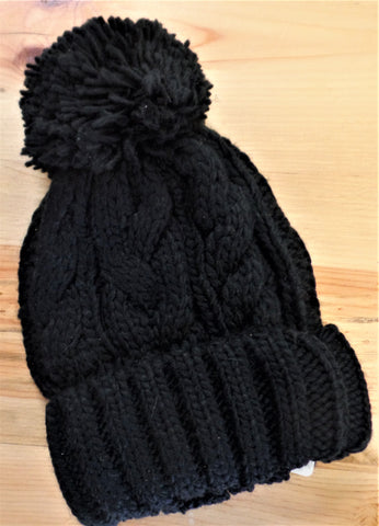 CABLE KNIT POMPOM BEANIE 5 COLORS
