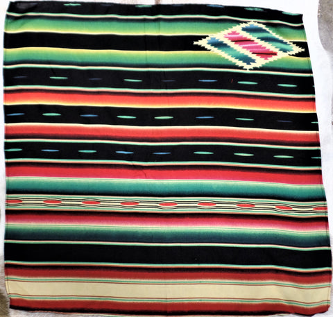 SERAPE STRIPE SCARF IN BLACK