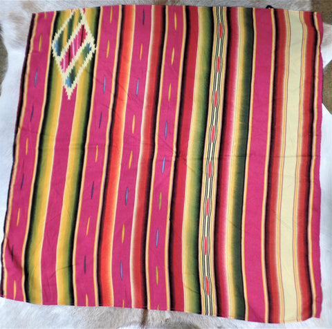 SERAPE STRIPE SCARF IN PINK