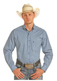 PanHandle Slim Button Down BLUE Long sleeve