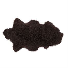 Brown Mongolian Lamb Fur Rug