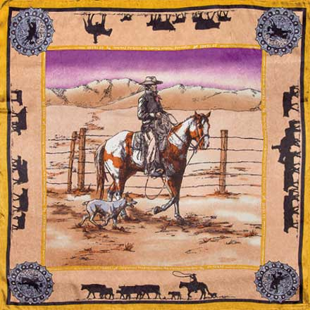 Anniversary Paint Tan Limited Edition Silk Scarf