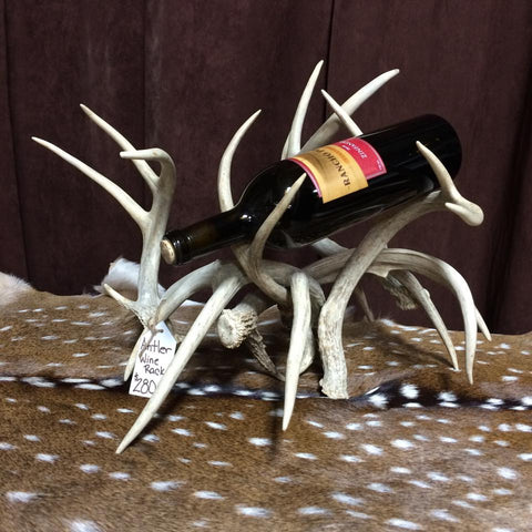 Whitetail Antler Wine Rack