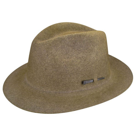 Bailey Atmore Fedora in Brown Mix