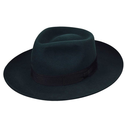 Bailey Bankside Elite Fedora in Dark Pine