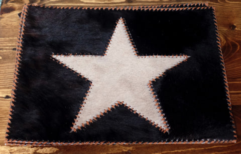 Cowhide Star Placemats Set of 4