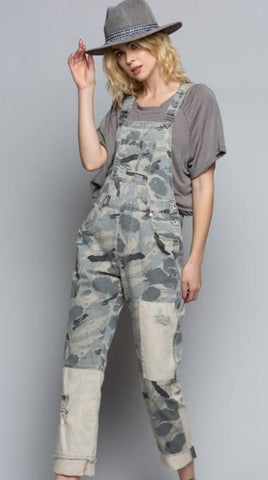 Grey Camouflage Overalls