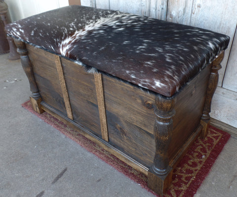 3 Ft Cowhide Trunk