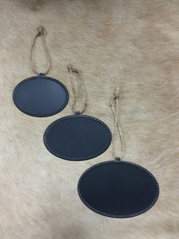Hanging Oval Chalkboard Labels