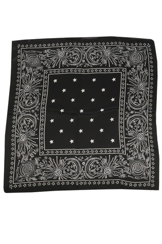 Night Star Silky Bandana in Black