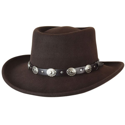 Bailey Eddy Bros. Gambler Hat in Brown
