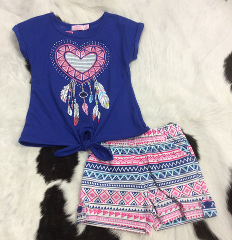 2 Piece Girls Short Sets