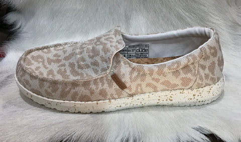 HEY DUDE MISTY WOVEN CHEETAH TAN