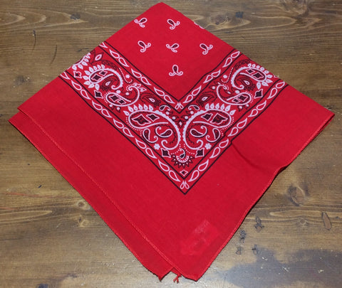 Double sided Red Bandana 100% cotton