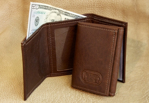 Buffalo Leather Trifold Wallet