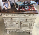 Small Antique White 3ft Buffet