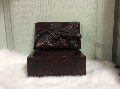 Hand Carved Ironwood Box