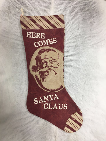 Here Comes Santa Stocking
