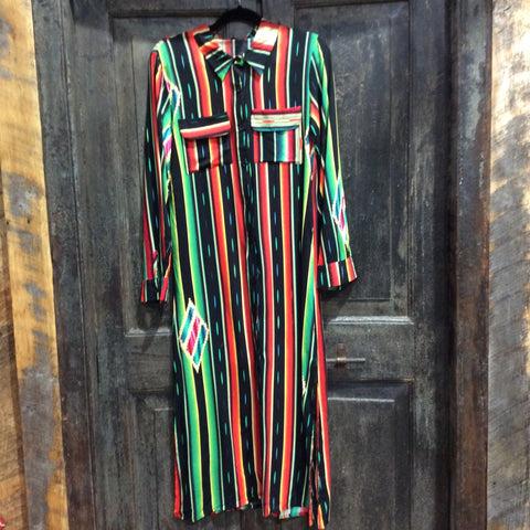 Serape Maxi Shirt IN BLACK