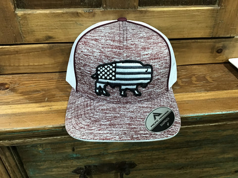 Red dirt USA buffalo hat