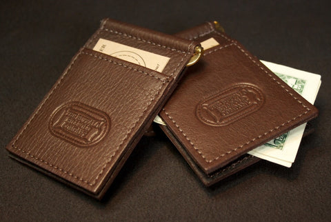 Buffalo Leather Money Clip Card Holder
