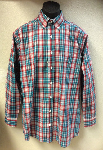 PanHandle Slim Button Down in a Red Plaid