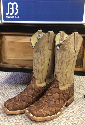 Anderson Bean Big Bass and Sinsational Tan Square Toed Boot 3378M