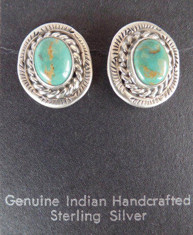 Double Rope Turquoise Post Earrings