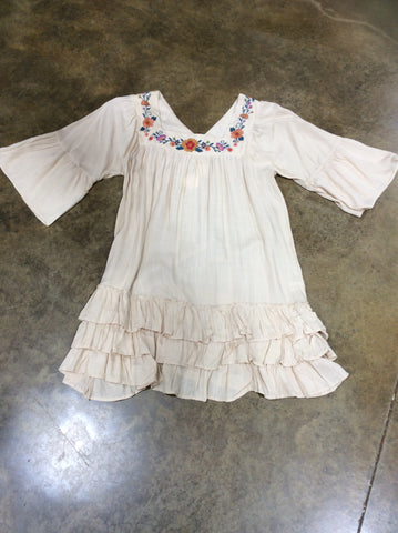 Embroidered ruffled top Plus